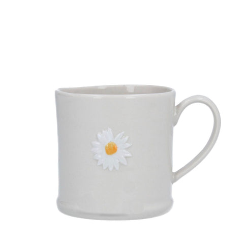 Mini Ceramic Mug with Daisy