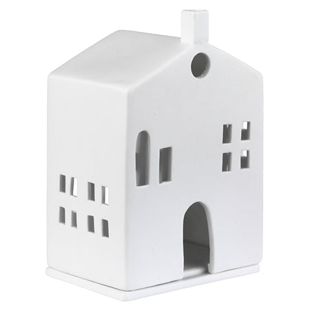 Porcelain Light Up House with Arched Door
