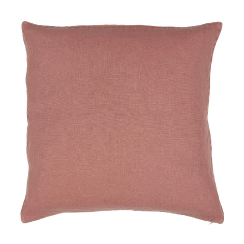 Faded Rose Linen Square Cushion