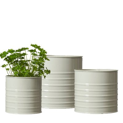 Chalk Ribbed Planter Large