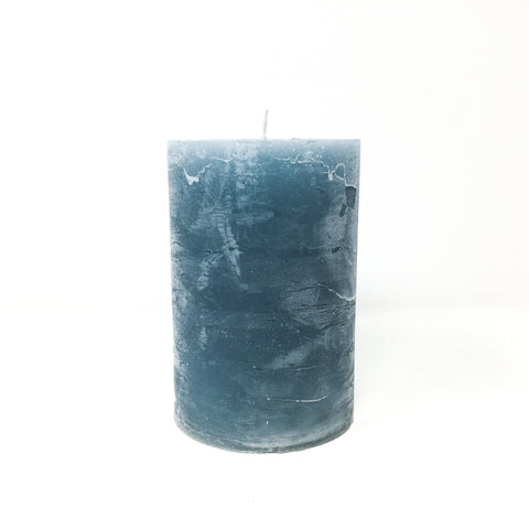 Chunky Pillar Candle - Winter Blue