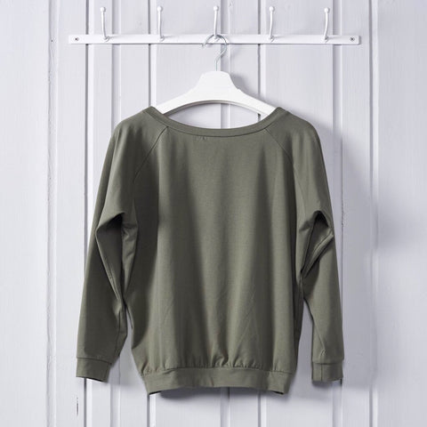 Soft Raglan Top Khaki