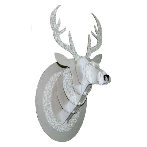 Trophy Large Deer in Silver