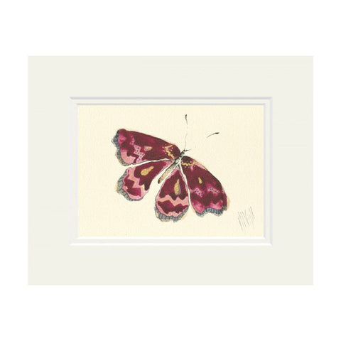 Pink Butterfly Mounted Print by Anna Wright