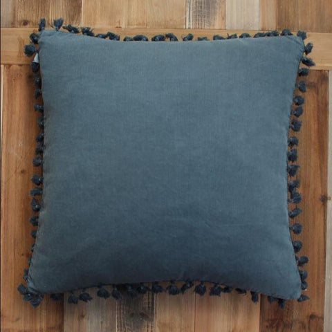 Denim Tassel Cushion