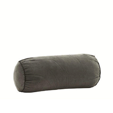 Linen Bolster Cushion Charcoal
