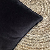 Velvet Cushion Anthracite Grey