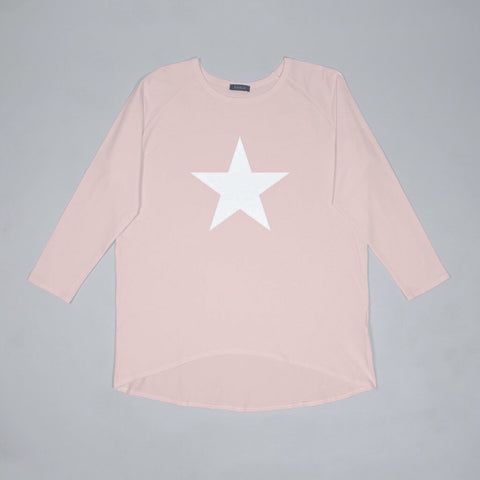 Star Top in Pink With White Star