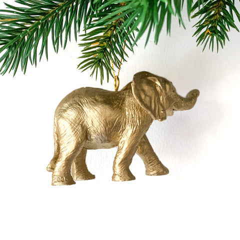 Golden Elephant Tree Decoration