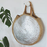 Round Metallic Basket Bag