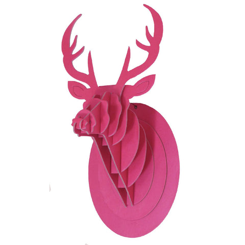 Pink stag head