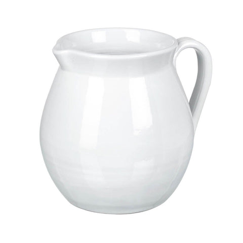 Large Stone Pitcher in White