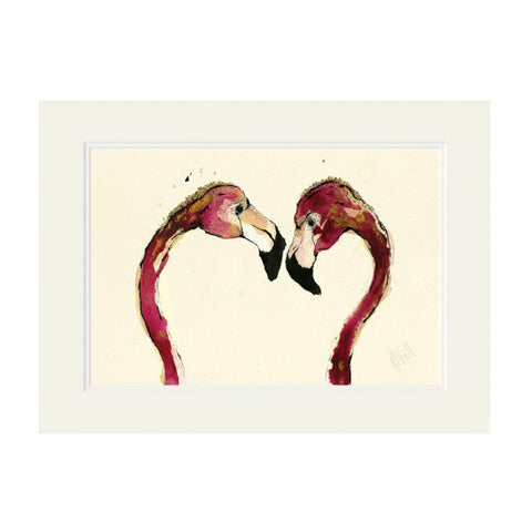 'Love Love Love' Mounted Print by Anna Wright