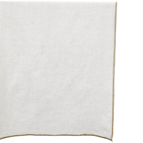 Golden Edge Table Runner in White