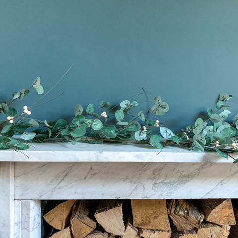 Eucalyptus Garland with White Berries