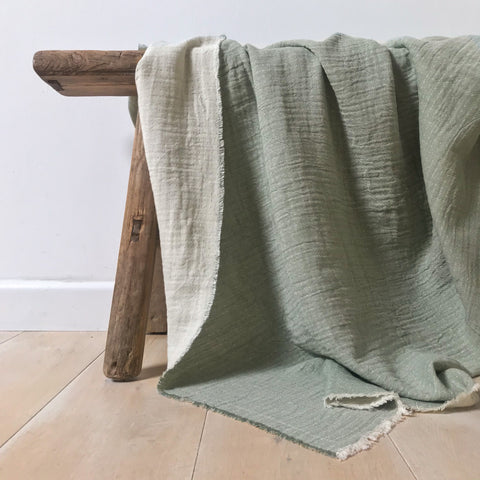 Lightweight Throw - Green / Natural