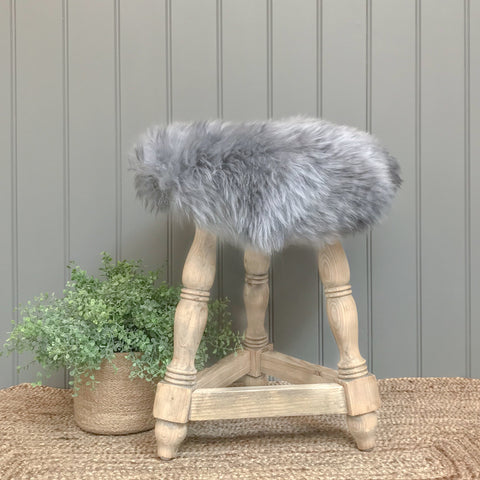 Sheepskin Seatpad in Silver Grey