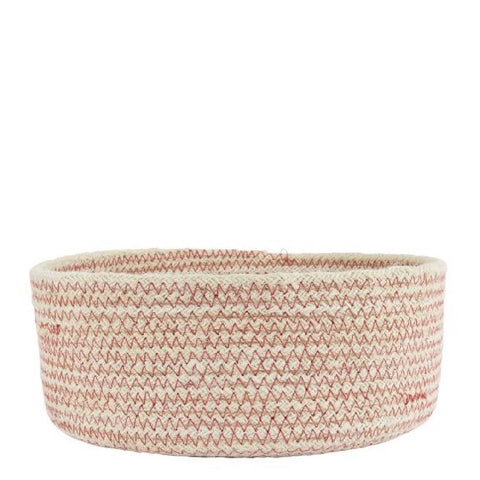 Red Weave Round Basket Large