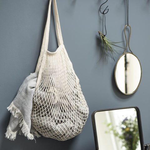 Ivory Mesh Shopping Bag