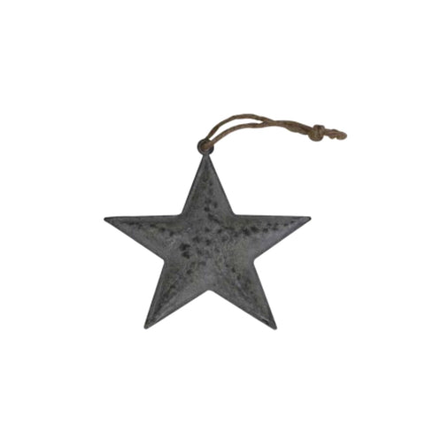 Zinc Hanging Star X Small