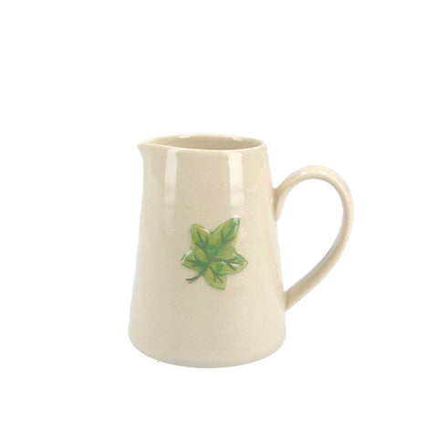Mini Ceramic Jug with Ivy Leaf