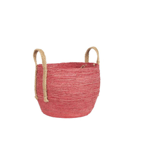 Medium Pink Rustic Basket
