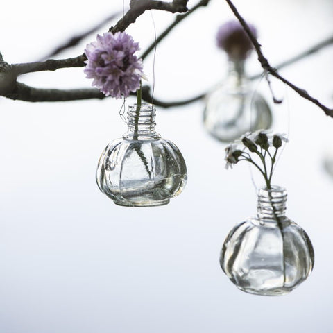 Mini Glass Wire Hanging Vase