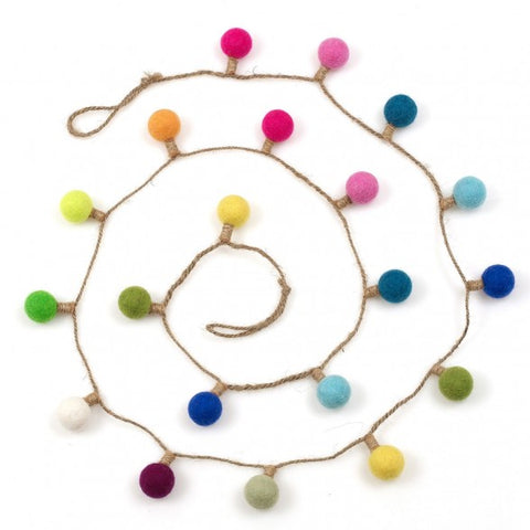 Felt Multi Lightbulb Garland