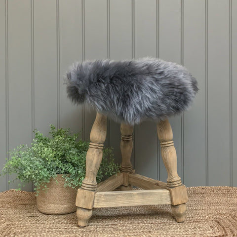 Sheepskin Seatpad in Mid Grey