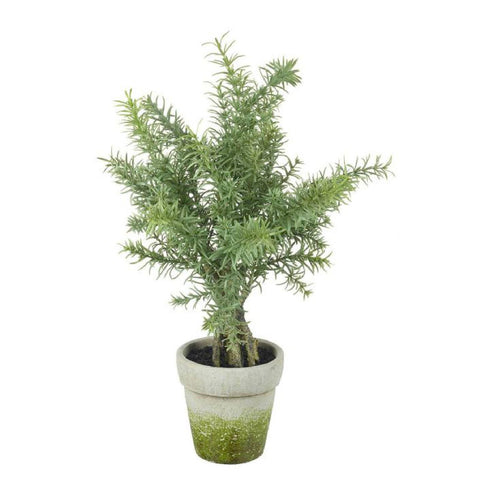 Potted Faux Rosemary Tree