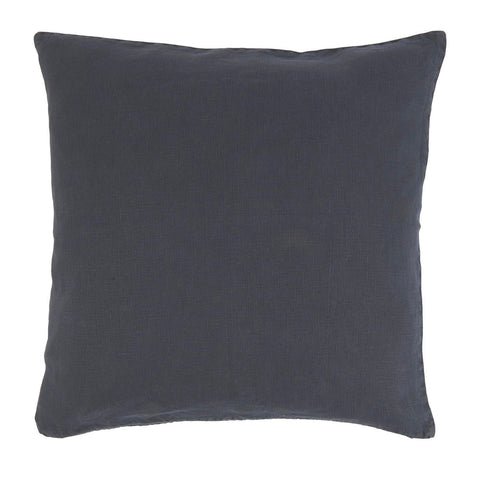 Midnight Blue Linen Square Cushion