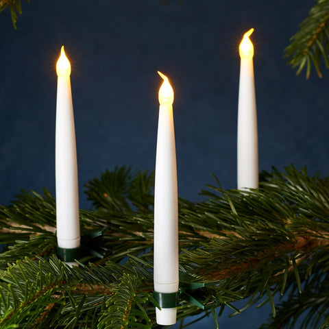 10 LED Christmas Tree Candles