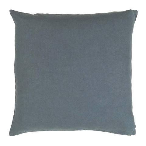 Linen Square Cushion in Historical Blue