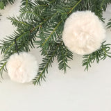 Large Fluffy Ivory Bauble