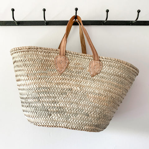 Small Leather Handled Basket