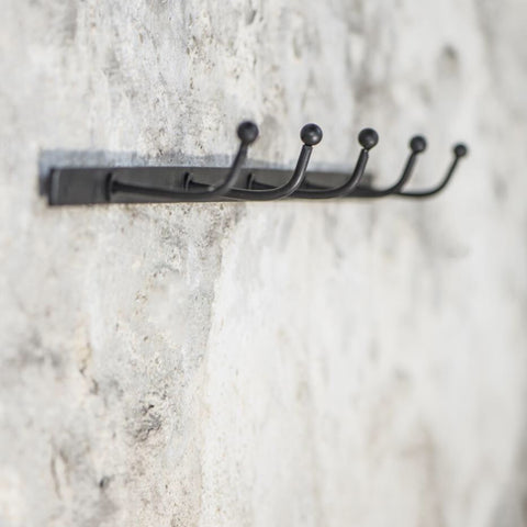 Metal Hook Rail with 5 Hooks