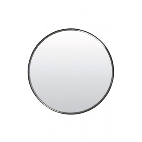 Round Nickel Mirror Large