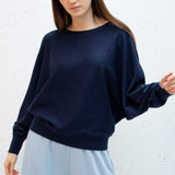 Soft Knit Batwing Jumper - Navy