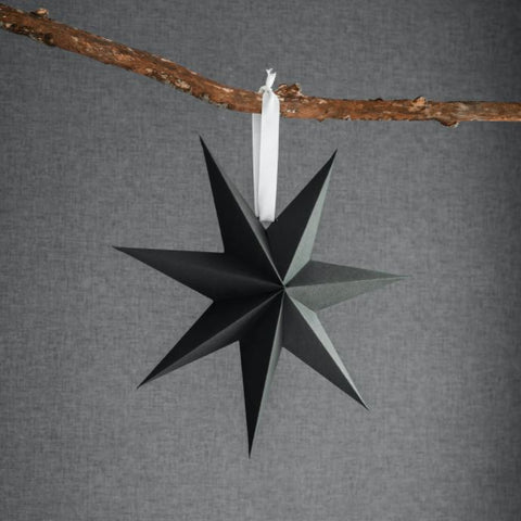 Black Paper Star Decoration 45cm
