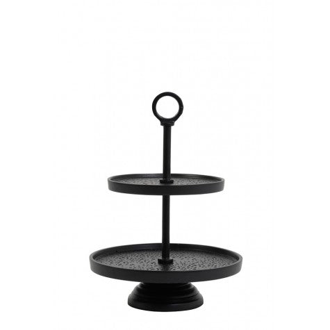 Black Metal Two Tier Etagere