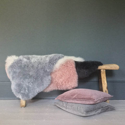 Single Sheepskin in Blush Pink
