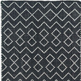 Black and Ivory Recycled Plastic Rug