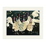 'Hen Night' Mounted Print by Anna Wright