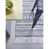 Grey and Ivory Recycled Plastic Rug