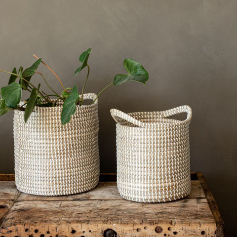 Seagrass Planter with Handles