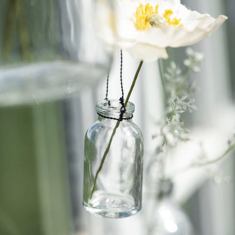 Mini Hanging Glass Bottle