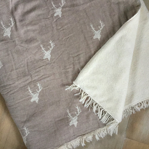 Taupe Stag Throw