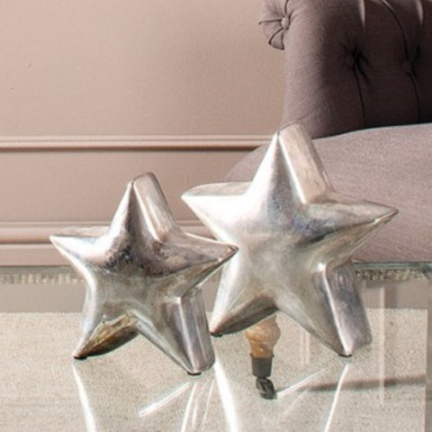 Decorative Silver Standing Star Small