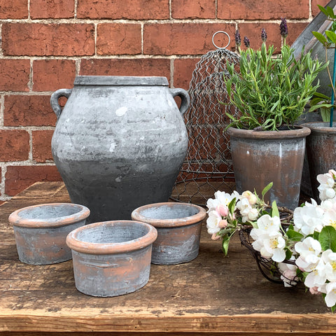 Grey Wash Small Pot