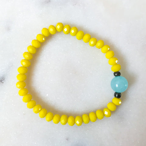 Beaded Bracelet - Yellow